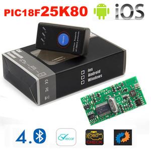 2019 Nouveau Mini ELM 327 Bluetooth 4.0 avec interrupteur d'alimentation et outil d'analyse ELM327 Wifi Wifi V1.5 25K80 OBD2 pour IOS Android