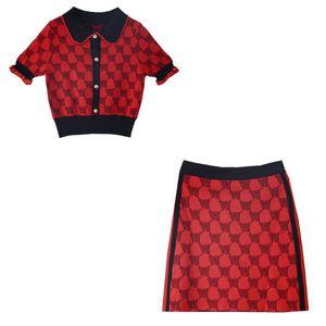 Женский дизайнерский весенний костюм женский трикотажный костюм женская юбка мода роскошный тренд бренд двухсекционный прилив женщина дизайнер роскошной одежды