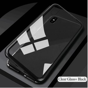 Magnetic Adsorption Metal + Tempered Glass Built-in Magnet Clear Back Panel Phone Case Ultra Flip Cover For iPhone XS Max XR X 8 7 6 6S Plu
