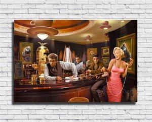 James Dean, Marilyn Monroe, Elvis Presley, Humphrey Bogart -4, HD Canvas Impressão Pintura Decoração New Home Art / (Unframed / Framed)