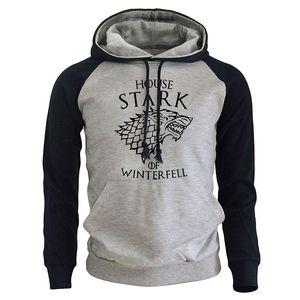 Game Of Thrones Casual Men's Sweatshirt 2018 Spring New Hoodies HOUSE STARK OF WINTER FELL Print Pullover Harajuku Hoody For Men