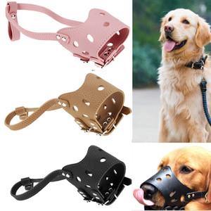 S / m / l Bozal para perro de cuero Anti Corteza Mordida Masticar Perro de entrenamiento ajustable Bozal para perros Pequeño mediano Grande Perro Productos para mascotas