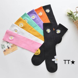 New arrived 2020 sweet girls socks flower kids socks cotton girls knit knee high socks casual kids long sock princess sock B700