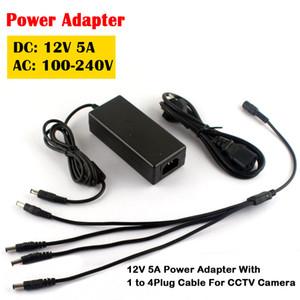 12В 5А 1 по 4 порта штепсельная вилка сплиттер кабель CCTV камеры AC адаптер питания коробка для CCTV безопасности камера DVR аналоговый Ахд ТВі резюме