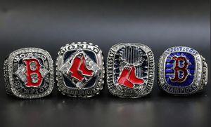 4pcs 2004 2007 2013 Fan Collection Boston Red Sox 2018 l'anello di campionato taglia 11