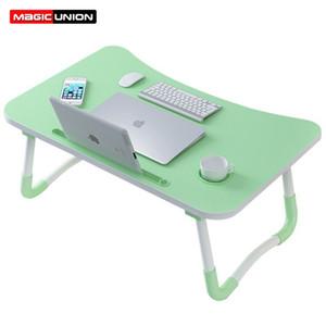 Волшебное Union Главная Складной стол для ноутбука для диван-кровать для ноутбука кровать Tray Стол Стол Портативный Lap стол для изучения и чтения Bed Top T