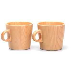 Nuove tazze di legno semplici della tazza dell'abete Tazza di tè del caffè Tazza di legno intera anti-scalding della tazza di orecchio intero Commercio all'ingrosso