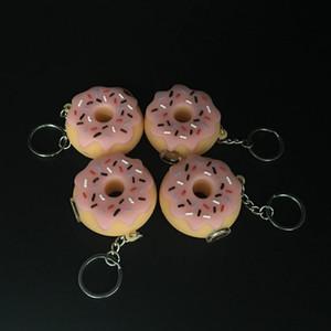 Rig barato Silicone da tubulação de água Oil Pipes Percolator Bubbler mão de vidro cachimbos para fumar Donuts Estilo
