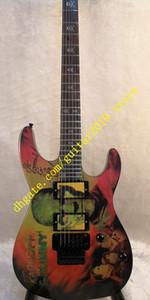 Deluxe Series KH-2 crânio O esqueleto imagem corpo basswood com maple pescoço EMG captador de guitarra elétrica