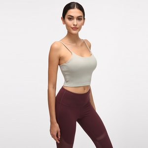New Sexy Women Beauty Back Yoga Top Strap Crop Top Workout Sports Shirt with Bra Pad Gym Tank Fitness Clothing