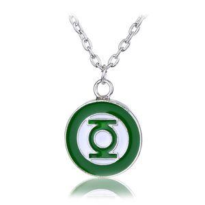 Il logo Green Lantern Simbolo distintivo collana pendente in argento