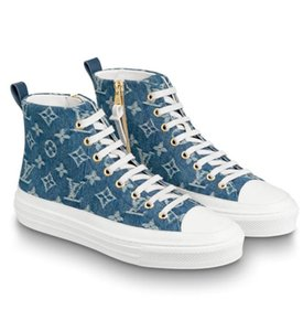 Donne di marca Cane Gatto Canvas Stellar Hi-top Scarpa da ginnastica Designer Lady Zip laterale in gomma suola Lace Up scarpe casual