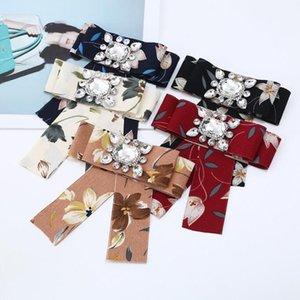 Bijuterias Atacado coreano moda laço Versão Handmade Ladies Floral 14 * 12,5 centímetros de moda Acessórios Professional Collar Flower