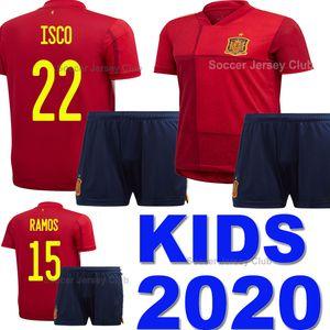 Euro 2020 maglia da calcio per bambini Spagna INIESTA RAMOS MORATA ISCO squadra nazionale bambino soccer jersey Spain ragazzi SILVA TORRES camiseta de fútbol