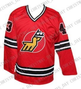 Personalizado Michigan Veados Retro Hockey Jersey New Red Tardif personalizado costurar qualquer número qualquer nome Mens Hockey Jersey XS-5XL