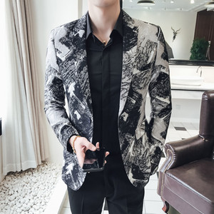 New Men Suit Tuxedo Slim Fit for Wedding Dress Suits Blazer Chinese Style Retro Business Casual Stage Host Costume Blazer