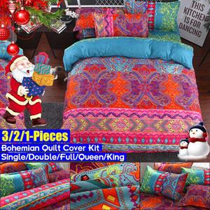 Bet Набор Bohemian пододеяльник Set Mandala Реверсивный постельных цветов Покрывало Single / Double / Full / Queen / King