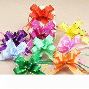 B 10pcs 1.8 * 35cm Pull Bögen Bänder Blumengeschenkverpackung Schmetterling Design Hochzeit Dekoration Pullbows Mehrfarbenwahl Weihnachten