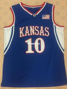 # 10 Хайнрика Канзас Jayhawks Баскетбол Джерси All Размер вышивка прошитая Настроить любое имя и имя XS-6XL жилета трикотажных изделий NCAA