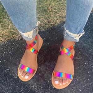 2020 zapatos de plataforma multi del color Mujer sandalias de verano sandalias multicolor respirable cómodo el verano de la mujer