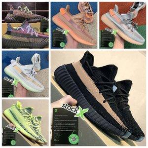 Stock X Kanye West Tail Light Desert Marsh Flax Yeshaya Men Sports Shoes Yecheil Landmark Black Static Reflective Women Designer Sneaker