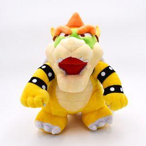 25cm Süper Mario Bros Bowser Standı Koopa Peluş Oyuncak Büyük Hediye İçin Bebek Y200703
