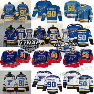 St. Louis Blues Jersey 2019 Stanley Cup Champions '90 Vintage 90 maglie hockey Ryan O'Reilly 91 Vladimir 50 Binnington 99 Wayne Gretzky