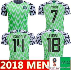 2019 África Cup Nigeria Home Away Fútbol Jersey 19 20 Nigeria Personalizada Okechukwu Okocha Ahmed Musa Mikel Iheanacho Camisa de Fútbol