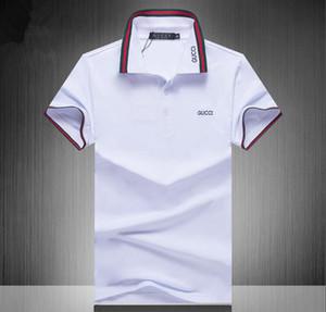2019 Tasarımcı Marka polo gömlek Erkekler t shirt lüks erkek polos çiçek nakış Yüksek sokak moda ünlü baskı erkekler yaka polo # 0365