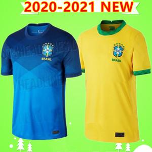 BRAZIL Thail NERES soccer jersey BLUE YELLOW BRASIL camiseta de futebol copa america 2020 2021 Uniform G.JESUS COUTINHO 20 21 football shirt