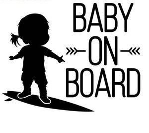 15 * 12см Новое прибытие Ребенок на борту знак серфинг автомобиля наклейки девушки Art Car Декаль CA-583