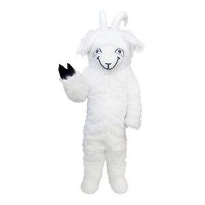 Cabra Sheep longo cabelo Mascot Costumes personagem de banda desenhada Adulto Sz 100% real Picture223