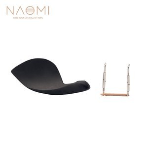 NAOMI Violin Chin Rest Ebony para 4/4 Violin Chin Rest + Silver Screw Violin Parts Accesorios Nuevo