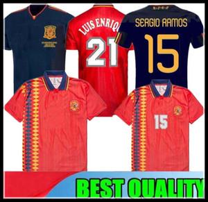 2010 final Espanha camisa de futebol retro RAUL XAVI Hierro LUIS ENSRIQUE XAVI ALONSO 1994 Copa do Mundo Caminero Iniesta PIQUE DAVAD David Villa
