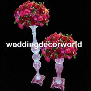 Новый стиль небольшой столб акриловая подставка для свадебного стола украшения, Кристалл flowe стенд свадьба центральным decor196
