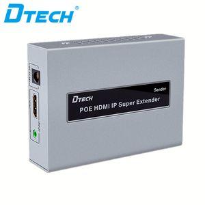enchufe de control remoto IR venta caliente y reproducir vídeo emisor receptor de cable 120m lan extensor de HD 1080P HDMI IP del POE