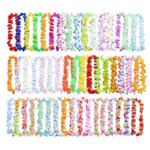 50PCS Decorations for wreath Hawaiian Flower leis Garland Necklace Fancy For Dress Party Hawaii Beach Fun DIY decoration #15F
