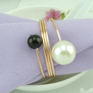 Имитация Pearl металл Кольцо для салфеток Изысканного Круглого гальванических Салфетки Пряжка для Свадебного душа польза хорошего качество 2 5ого дд