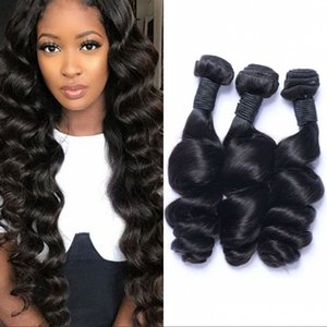 Loose Wave Bundles Mongolian Hair Bundles 8-26 inches Unprocessed Human Hair Extensions Non-Remy Double Weft 3 Bundles