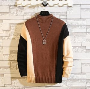 New Men's clothing Designer Sweater Pullover Color matching Men Woolen sweaters Luxury Mens Autumn Winter Knitwear Cardigans coats