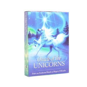 Caliente completo Inglés Oracle tarjetas Cubierta misterioso oráculo de las tarjetas de Tarot de la tarjeta de unicornios destino Juego de mesa juguete
