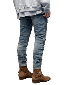 New Boy Hip Hop Mens Designer Jeans Fashion Casual Ripped задрапированные Дизайнерские Дырки Карандаш Жан Брюки мужская Одежда