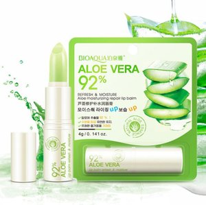 DHL free BIOAQUA Face Skin Care Natural Aloe Repair Lip Balm Colorless Long Lasting Lips Skin nourishing Moisturizing Lips Balm