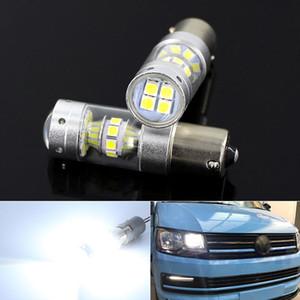 조명 DRL을 실행 VW T5 T5.1 T6 수송기 LED 주간에 2 개 화이트 6000K CANBUS 없음 오류 1156 P21W LED 전구