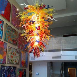 Decorative Splendida villa Lampade a sospensione Nuovo colorato a mano soffiato Lighting Lampadario in vetro per la casa Hotel Club decorazione di arte