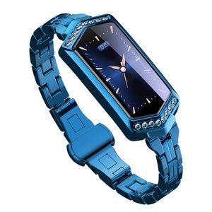 B78 Смарт браслет женщин Фитнес Часы сердечного ритма кислорода трекер Монитор артериального давления SmartWatch группа лучший подарок для подруги