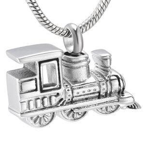 LkJ10001 nueva llegada personalizada mini tren de acero inoxidable humana cenizas del recuerdo de la urna de la cremación joyería collar Memorial