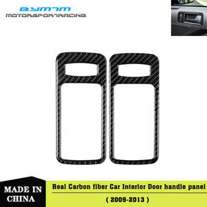 Real Carbon Fiber Car Inner Door Handle Bowl Frame Cover Molding Trim Stickers For Mustang