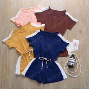 아이들은 디자이너의 옷 아기 워크 슈트 소년 소녀 짧은 장난 캐주얼 Bodysuit 반바지 아을 잠옷 Payamas