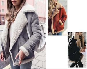 Kadınlar Kış Ceket Yün Ve Süet yamalı Casual Ve Moda Kürk Kıyafet Rahat Polar Coat ısıtın Artı